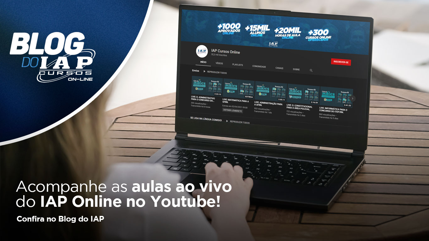 Acompanhe as aulas ao vivo do IAP Online no Youtube!